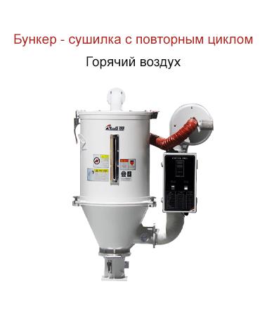 бункер сушилка с повторным циклом горячим воздухом
