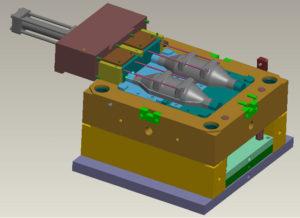 3D-модель литья пластика